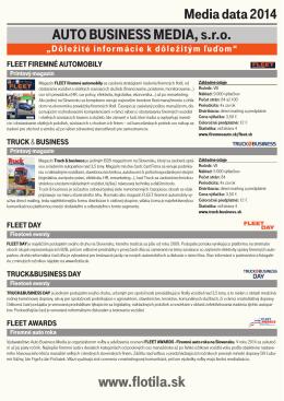 Kompletné media data pre inzerciu v časopise vo formáte PDF