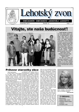Lehotský zvon December 2010