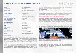 podnikové dlhopisy — joj media house 0% / 2015