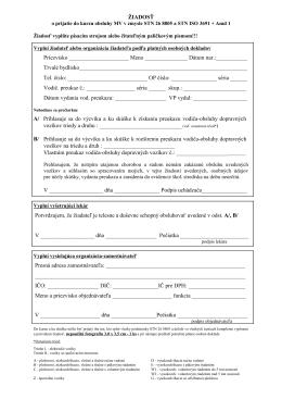 Žiadosť o prijatie do kurzu obsluhy motorových vozíkov