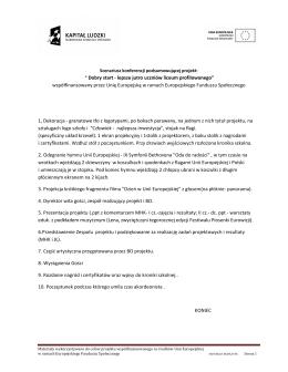 """"""" Dobry start - lepsze jutro uczniów liceum profilowanego"""
