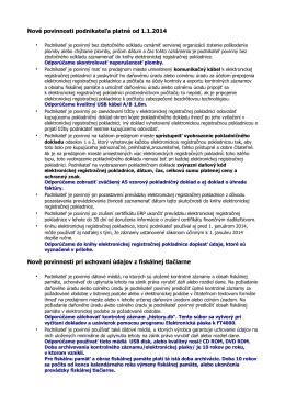 Nové povinnosti podnikateľa platné od 1.1.2014 Nové