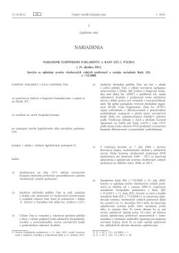 Nariadenie Európskeho parlamentu a Rady (EÚ) č. 978/2012 z 25