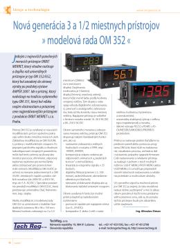 Nová generácia 3 a 1/2 miestnych prístrojov » modelová rada OM 352