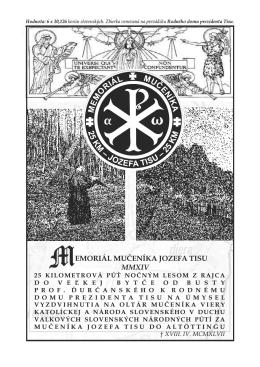 Ordináriu - Memoriál mučeníka Jozefa Tisu