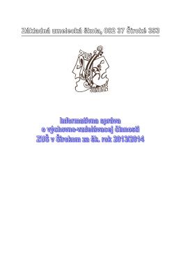 Informatívna správa 2013-14.pdf - Základná umelecká škola