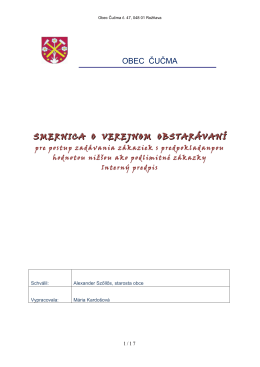 Smernica VO - Obec Čučma