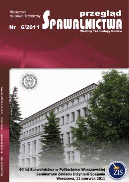 Przegląd Spawalnictwa 6/2011