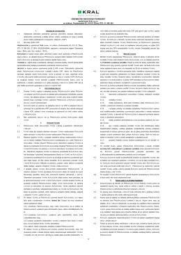 Všeobecné obchodné podmienky od 11.2013