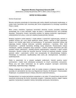 Regulamin Musztry Organizacji Harcerek ZHR