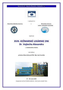 Kežmarské lekárske dni 2015 - Nemocnica Dr.Vojtecha Alexandra v