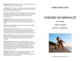 Zabawy na wakacje - PomagamyDzieciom.info