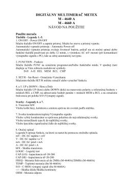 digitálny multimerač metex m - 4640 am - 4660 a návod na