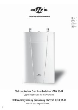 Elektronischer Durchlauferhitzer CDX 11-U Elektronicky