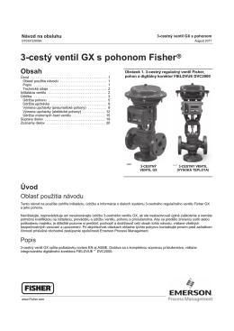 3-cestý ventil GX s pohonom Fisherr