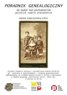 poradnik genealogiczny - Fundacja Kultury i Dziedzictwa Ormian