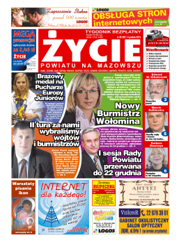 Nowy Burmistrz Wołomina - Życie Powiatu na Mazowszu