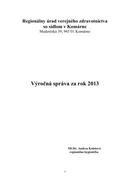 Výrocná správa RUVZ KN 2013