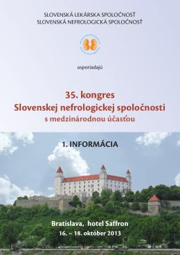 Nefrokongres 2013 prva informacia