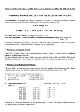 Prijímacie skúšky 2014 formát PDF