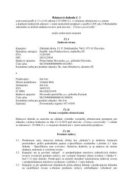 Rámcová dohoda č.1 - čistiace prostriedky