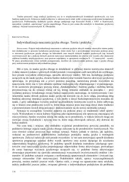 Krzysztof Polok Indywidualizacja nauczania j#U0119zyka obcego