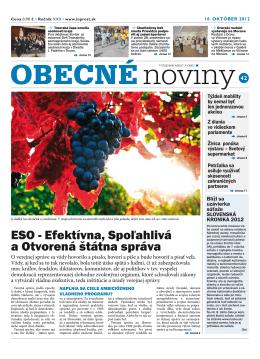 ESO - Efektívna, Spoľahlivá a Otvorená štátna správa