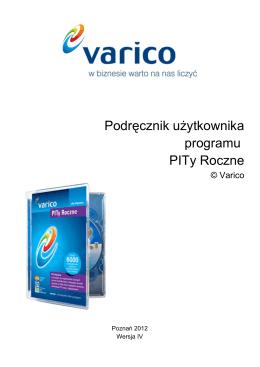 Podr cznik u ytkownika ę ż programu PITy Roczne