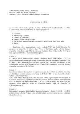 Zápisnica zo 14.5.2012 - Čajkovského 13,15,17,19