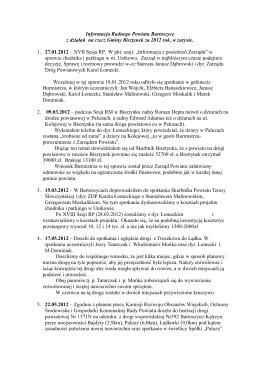 informacja radnego powiatu marka dominiaka