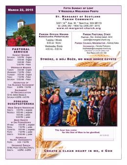 22 marca - Parafia św. Małgorzaty Szkockiej w Seattle