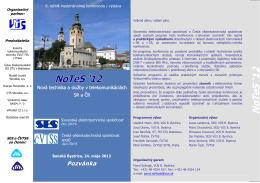 NoTeS 12_pozvanka_elek - Výskumný ústav spojov, no