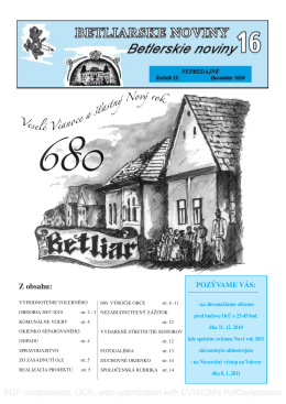 Betliarske noviny č. 16 (2010)
