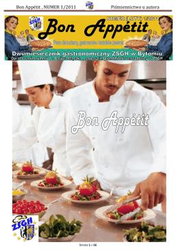 Bon Appétit , NUMER 1/2011 Piśmiennictwo u autora