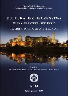 Kultura bezpieczeństwa. Nauka - praktyka