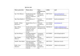Správna rada Meno a priezvisko Škola, adresa Názov