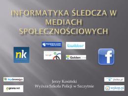 informatyka śledcza w mediach społecznościowych