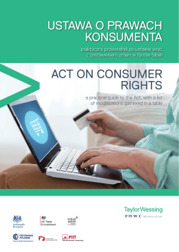 ustawa o prawach konsumenta act on consumer