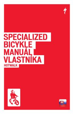 MANUÁL VLASTNÍKA SPECIALIZED BICYKLE