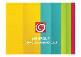 Obchodná politika JOJ GROUP 2015