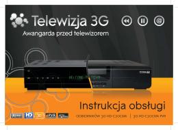 Instrukcja odbiorników 3G HD / 3G HD PVR