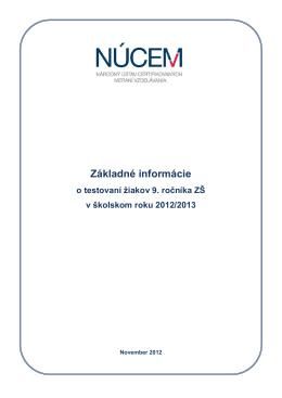 Základné informácie T9-2013