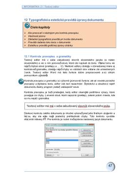 12. Typografické a estetické pravidlá úpravy dokumentu