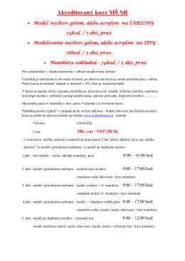 Akreditovaný kurz MŠ SR