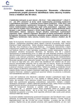 Správa - BARCELONA 2013