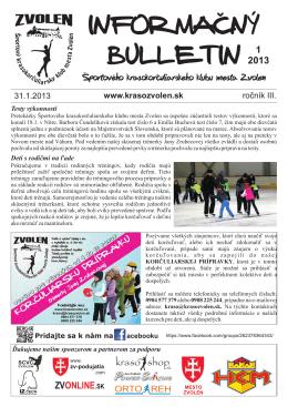 1/2013 - Športový krasokorčuliarsky klub mesta Zvolen