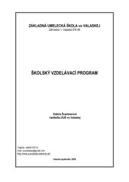 Školský vzdelávaci program 2012