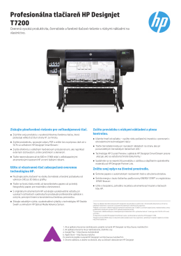 Profesionálna tlačiareň HP Designjet T7200