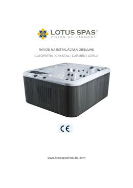 LOTUS SPAS - C-class - návod na inštaláciu a obsluhu