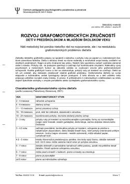 rozvoj grafomotorických zručností - CPPPaP Košice